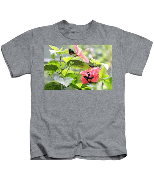 Cream-spotted Clearwing Butterfly Kids T-Shirt