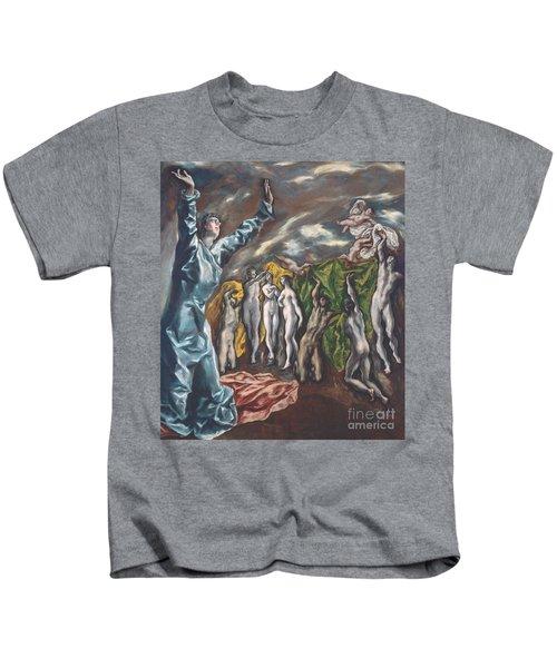 The Vision Of Saint John Kids T-Shirt