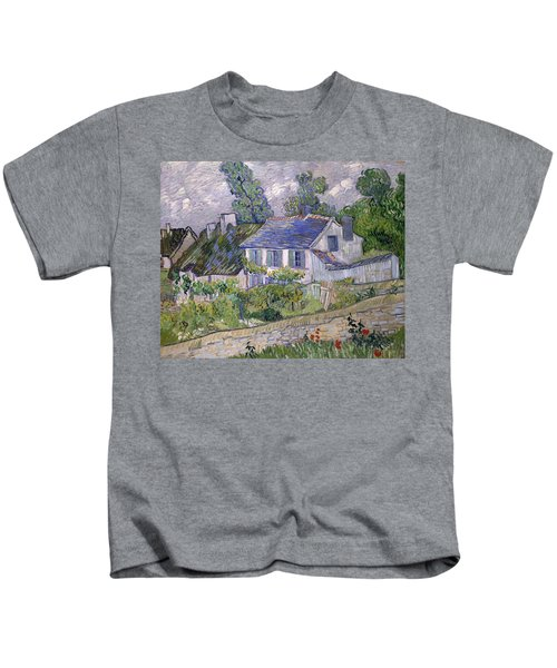 Houses At Auvers Kids T-Shirt