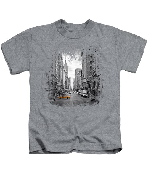 New York City 5th Avenue Kids T-Shirt by Melanie Viola