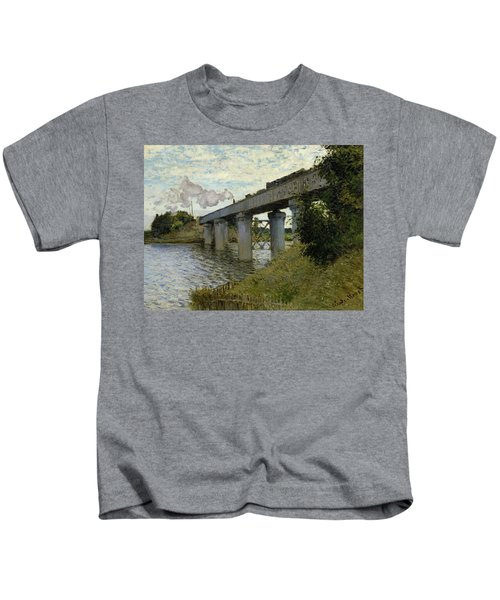 The Railroad Bridge In Argenteuil Kids T-Shirt