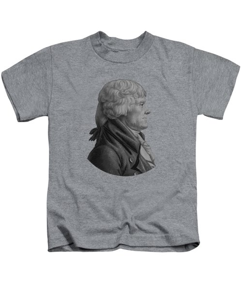 Thomas Jefferson Profile Kids T-Shirt