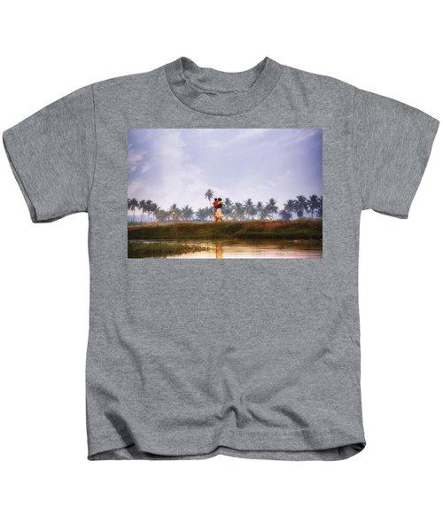 Backwaters Kerala - India Kids T-Shirt