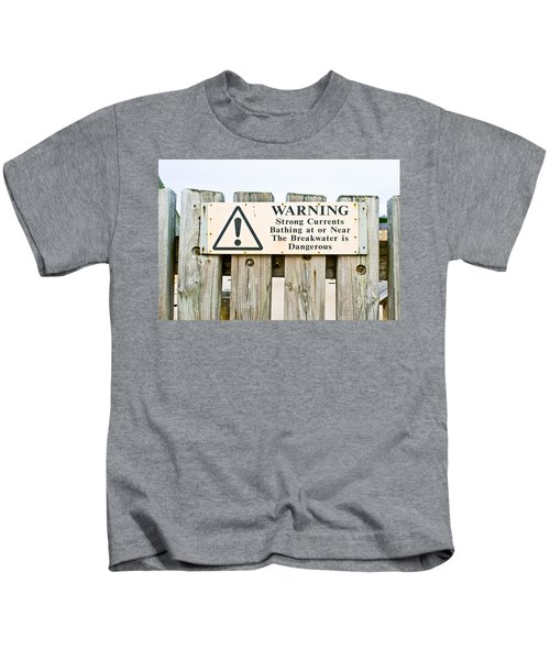 Warning Sign Kids T-Shirt