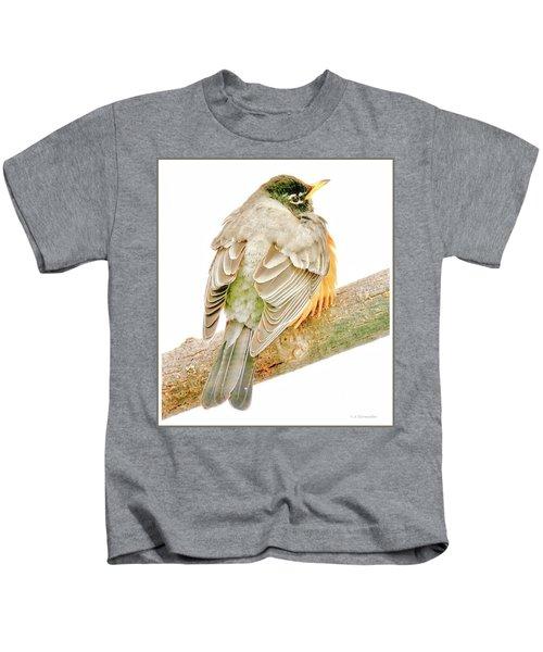 American Robin Male, Animal Portrait Kids T-Shirt