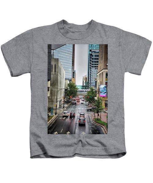 Charlotte North Carolina Views Around  Downtown Kids T-Shirt
