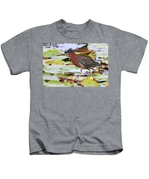 Green Heron Kids T-Shirt