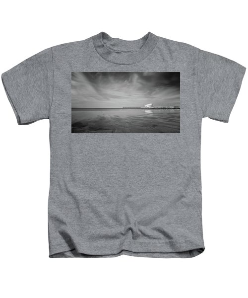 A Beach And A Bunch Of Birds Kids T-Shirt
