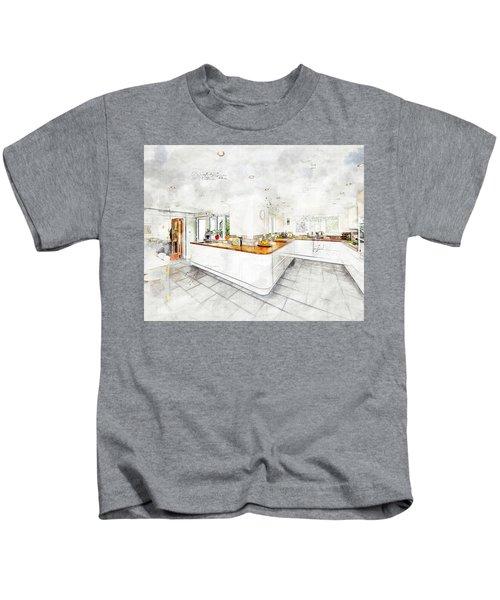 A Bright White Kitchen Kids T-Shirt