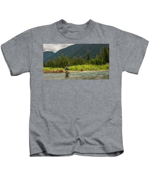 A Day On The River Kids T-Shirt