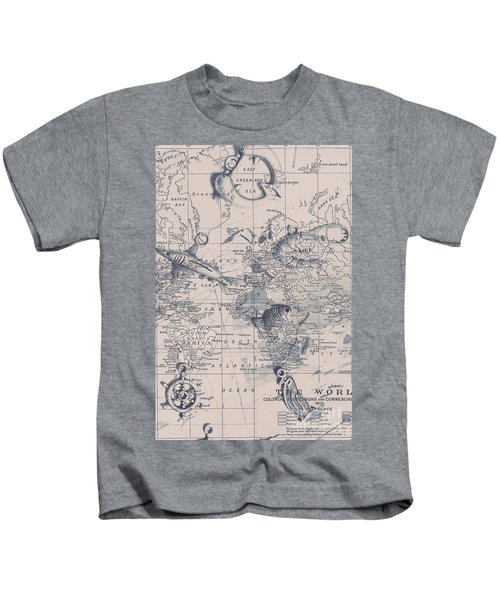 A Fishermans Map Kids T-Shirt