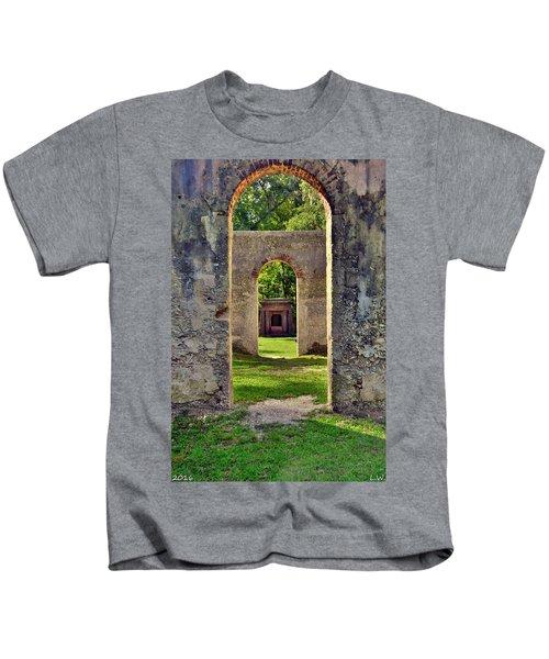 A Look Through Chapel Of Ease St. Helena Island Beaufort Sc Kids T-Shirt