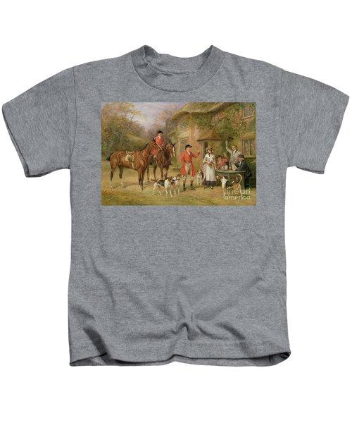 A Meeting At The Three Pigeons Kids T-Shirt