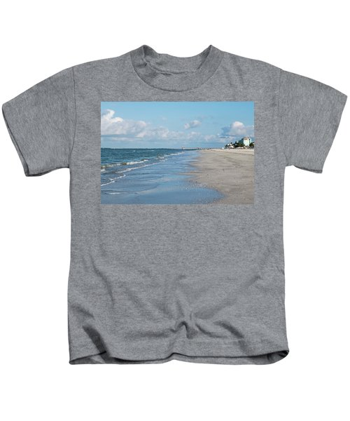 A Morning Walk On Fort Myers Beach Fort Myers Florida Kids T-Shirt