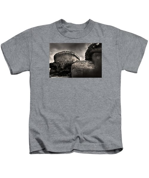A Peak At The Tower Pictorial Kids T-Shirt