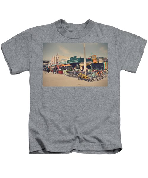 A Perfect Day For A Ride Kids T-Shirt by Laurie Search