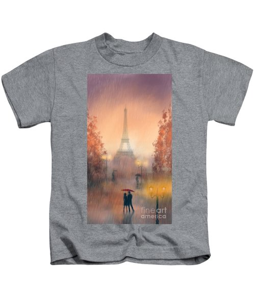 A Rainy Evening In Paris Kids T-Shirt