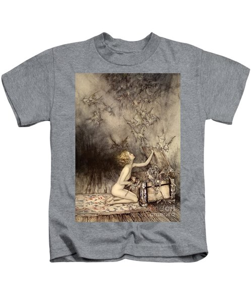 A Sudden Swarm Of Winged Creatures Brushed Past Her Kids T-Shirt