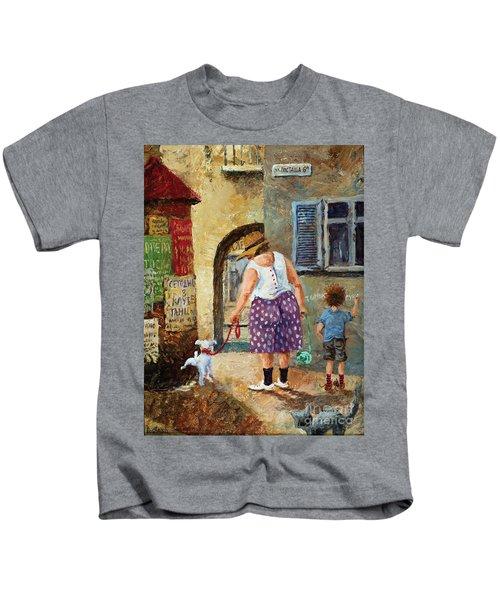 A Walk Down Memory Line Kids T-Shirt