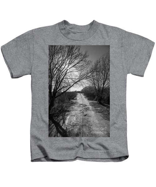 Abandoned 66 In Black And White Kids T-Shirt