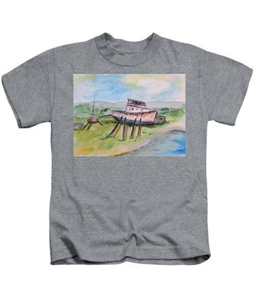 Abandoned Fishing Boat Kids T-Shirt