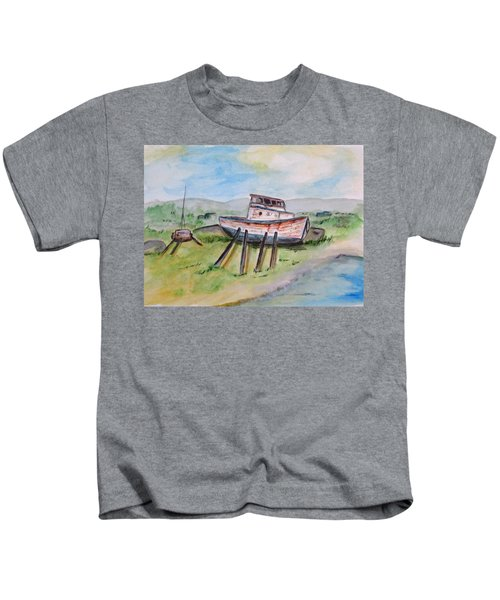 Abandoned Fishing Boat Kids T-Shirt