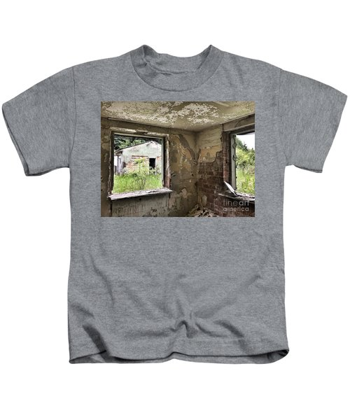Abandoned Old Ammunition Depot Of The Belgian Army  Kids T-Shirt