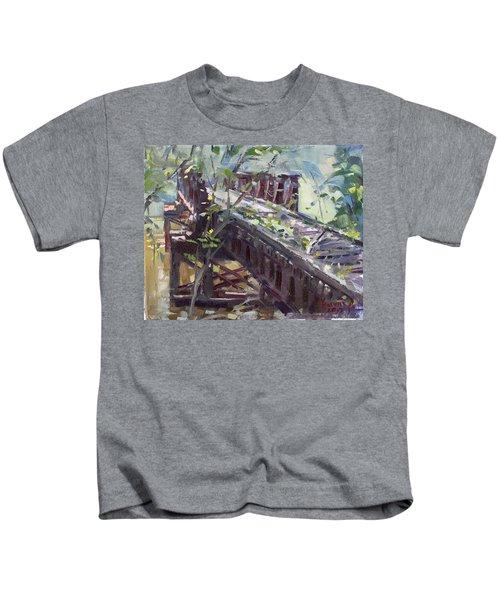 Abandoned Railroad Bridge In Tonawanda Kids T-Shirt