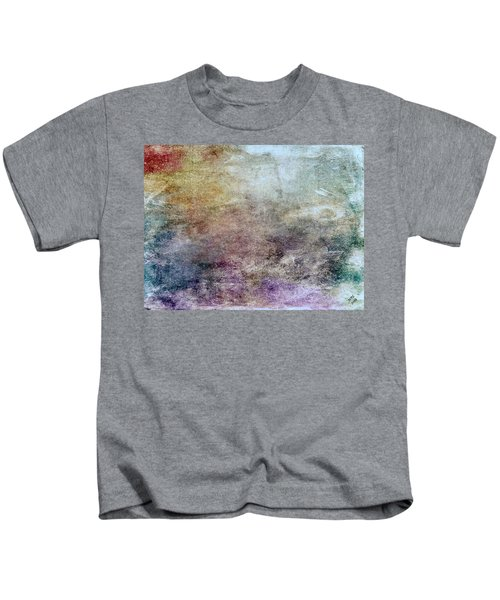 Kids T-Shirt featuring the painting Abstract 47 by Marian Palucci-Lonzetta