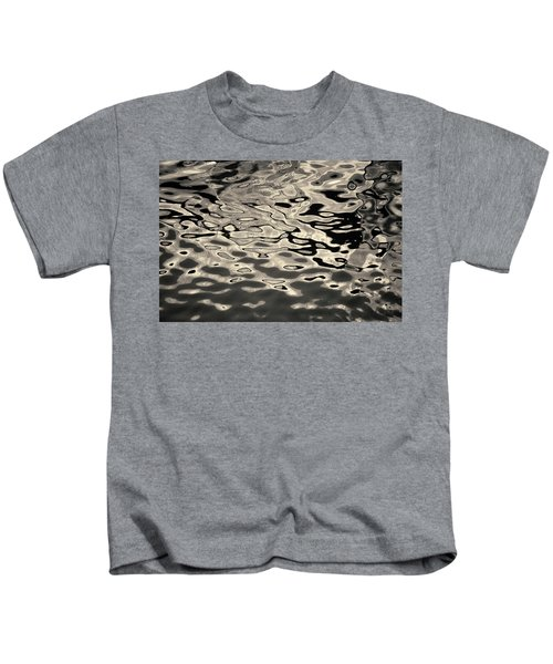 Abstract Dock Reflections I Toned Kids T-Shirt