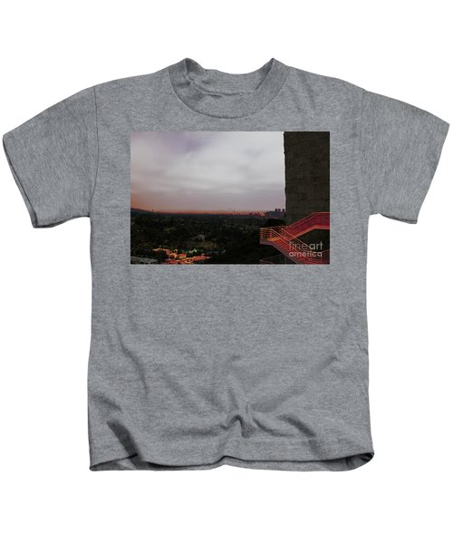Abstract Mixed Media Getty View Los Angeles California  Kids T-Shirt