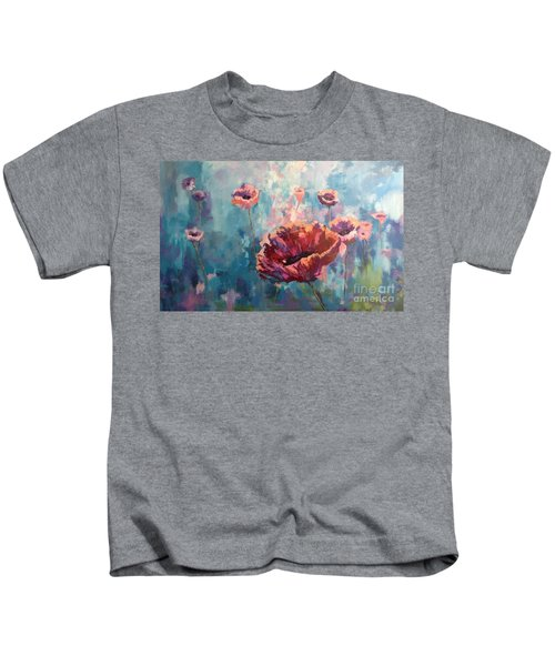 Abstract Poppy Kids T-Shirt