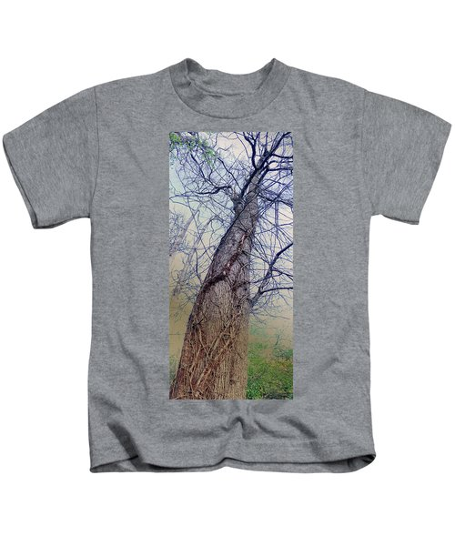 Abstract Tree Trunk Kids T-Shirt