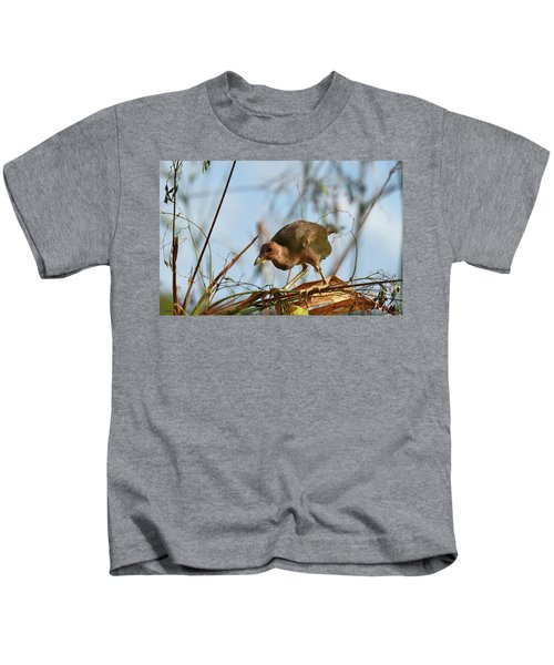 Adolescent Purple Gallinule Kids T-Shirt
