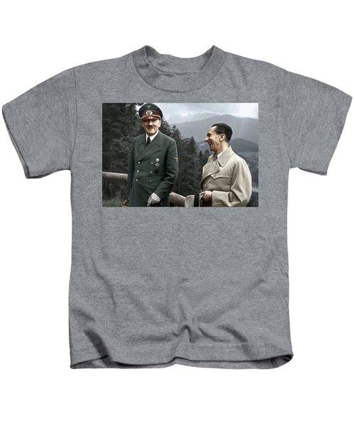 Adolf Hitler Joseph Goebbels Berghof Retreat  Number 2 Agfacolor Heinrich Hoffman Photo Circa 1942 Kids T-Shirt