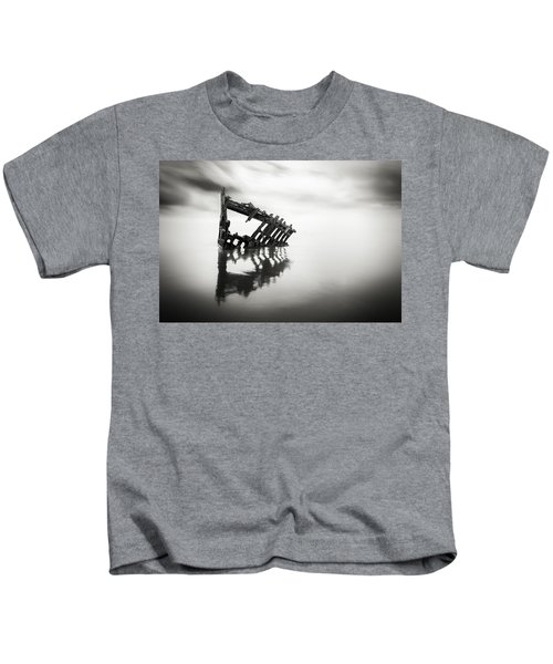 Adrift At Sea In Black And White Kids T-Shirt