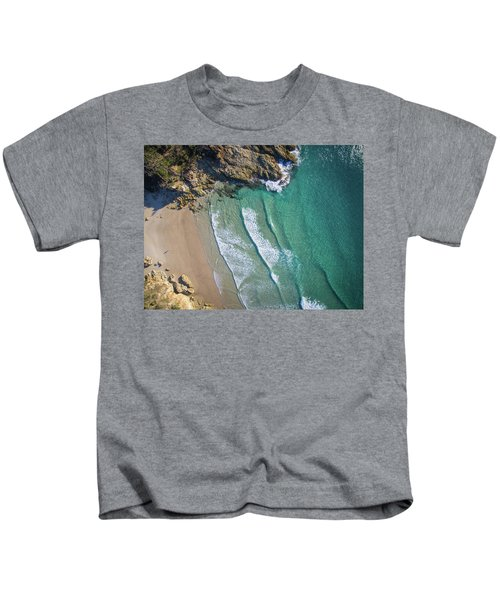 Aerial Shot Of Honeymoon Bay On Moreton Island Kids T-Shirt