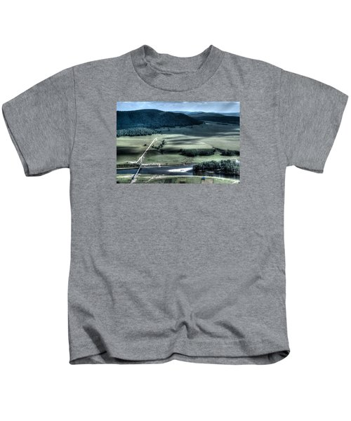 Aerial View Of Rolling Russian Hills Kids T-Shirt
