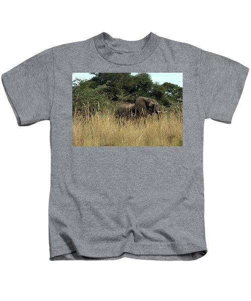 African Elephant In Tall Grass Kids T-Shirt