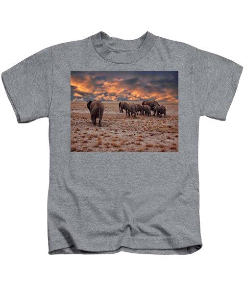 African Elephants Kids T-Shirt