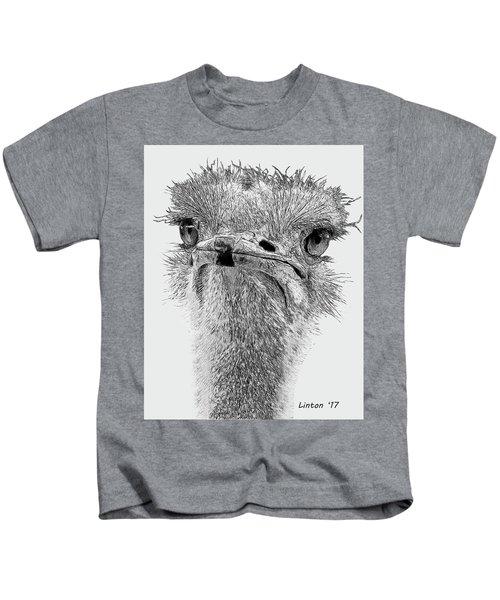 African Ostrich Sketch Kids T-Shirt