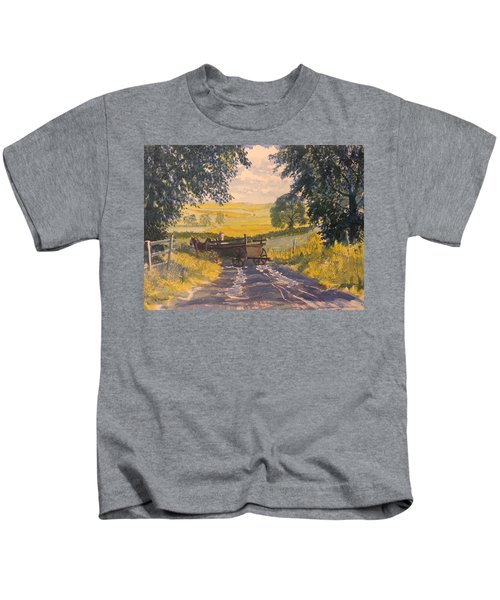 After Rain On The Wolds Way Kids T-Shirt