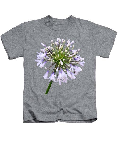 Agapanthus On White Kids T-Shirt