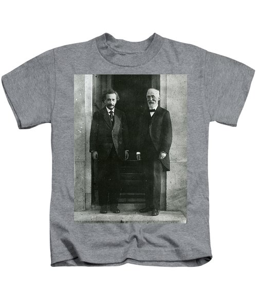 Albert Einstein And Hendrik Antoon Lorentz Kids T-Shirt