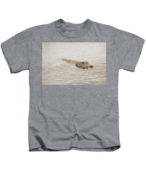 Alligator Waiting In The Water Kids T-Shirt