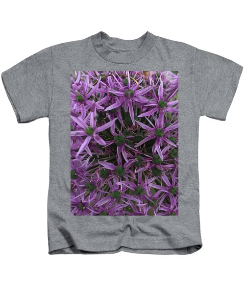 Allium Stars  Kids T-Shirt by Kathy Spall