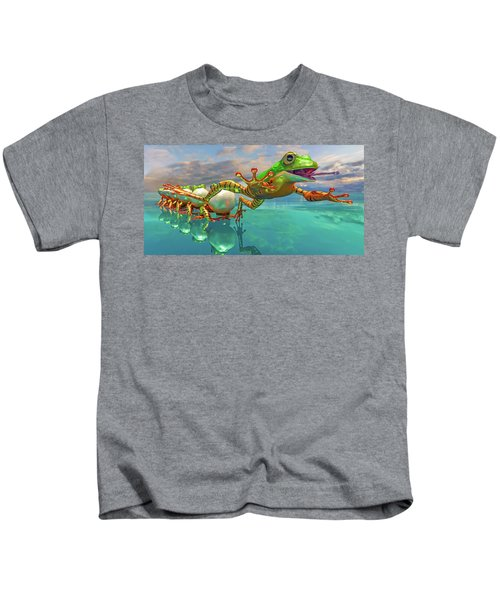 Amazon Frog Mighty Jumper Clear View Kids T-Shirt