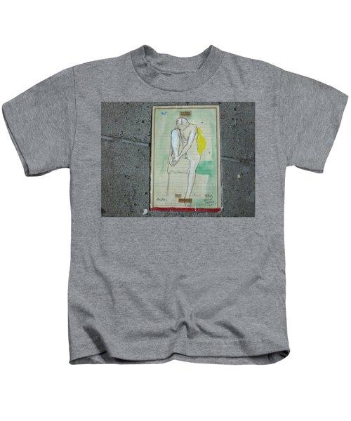 Amber On A Stool Kids T-Shirt