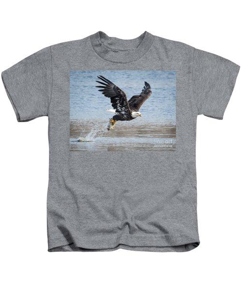American Bald Eagle Taking Off Kids T-Shirt
