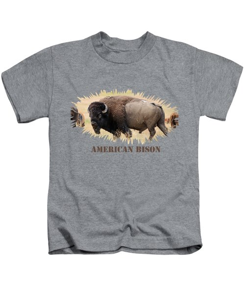 American Bison Kids T-Shirt